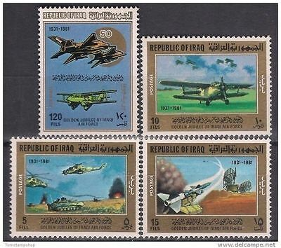 Iraq 1981 Air Force Aircraft Planes Helicopter Tank Radars Missiles Military MNH