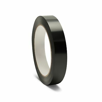 """864 Rolls Poly Strapping Tape Black Economy Grade 1/2"""" x 60 Yards"""