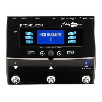TC-Helicon Play Acoustic Guitar & Vocal / Guitar Effects Pedal Voicelive