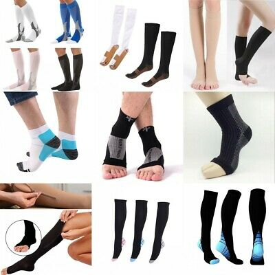 Anti-Fatigue Compression Socks 20-30mmHg Graduated Support Men's Women's