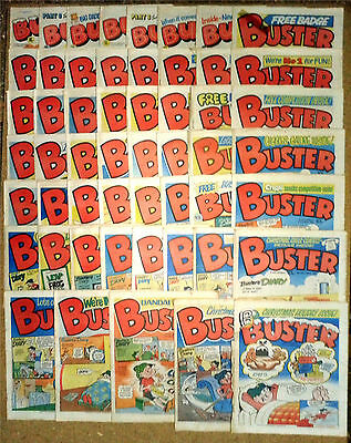 188 Vintage 1979 - 1985 Buster Comics & 4 Summer / Holiday Specials Monster Fun