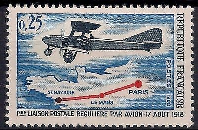 France 1968 Planes Bomber Aircraft Aviation Airmail Transport Maps Aerei MNH (1)
