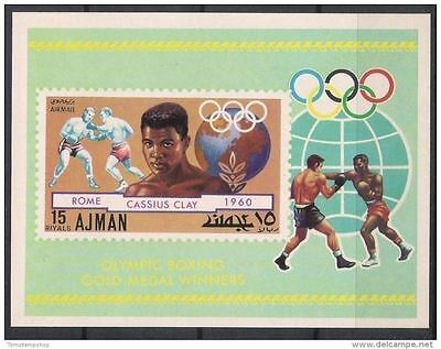 Ajman 1971 ROME/Olympic Games Cassius Clay Boxing Sports Gold Medal m/s Imp