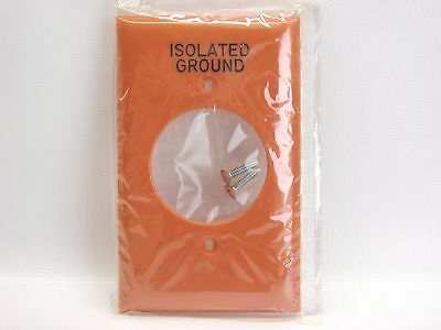 """NEW Hubbell NP720OIG Orange Isolated Ground Single Outlet Wall Plate 1.60"""" Hole"""