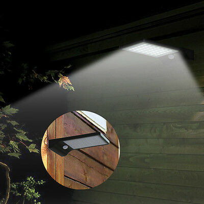 42 LED Solar Power PIR Motion Sensor Wall Lamp Garden Outdoor Waterproof Light