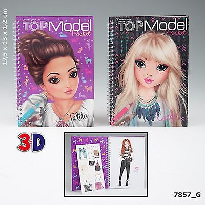 Create your TopModel Pocket Talita Candy Malbuch 3D Cover Depesche 7857_G NEU