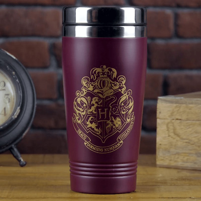 Tazza da viaggio Thermos Harry Potter Hogwarts Crest Travel Mug 18 cm Paladone