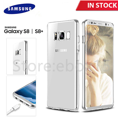 Samsung Galaxy S8/S8 Plus Case Ultra Thin Clear Slim Shockproof Soft TPU Cover