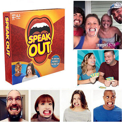 Speak Out Funny Mouthguard Challenge Party Board Game Xmas Gift Toy ON