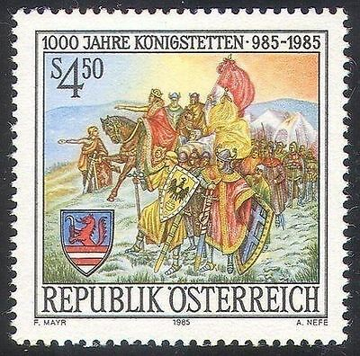 Austria 1985 Founding of Konigstetten Knight Army Military Horses Cavalli MNH