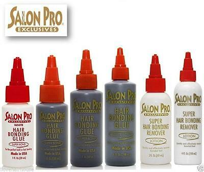Salon Pro Hair Extension Bonding Glue Black White Remover All sizes Availbale