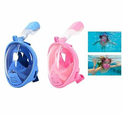 New Kids Full Face Snorkeling Mask Surface Diving with Breather Pipe for Gopro