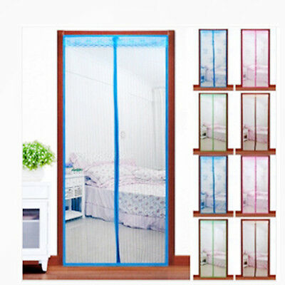 Magic Mesh Screen Net Door with magnets Anti Mosquito Bug Curtain Hot
