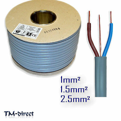 Twin and Earth Electrical Cable 6242Y Grey 1 1.5 2.5 mm Size length 3 Core T E