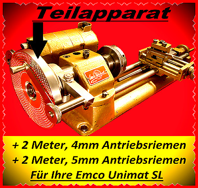 Dividing Attachment,Teilapparat,Emco Unimat SL,Lathe Indexing,Watchmakers Lathe