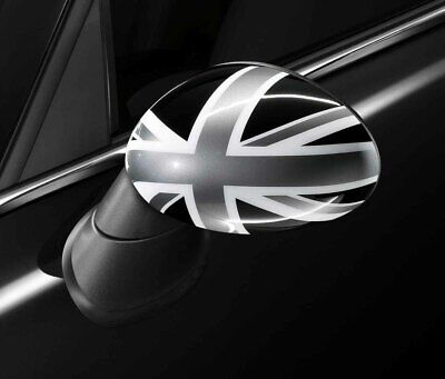 MINI Genuine Union Jack UK/British Flag Wing Mirror Cap Black Left 51162147673