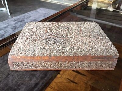 Beautiful Vintage Indian Kashmiri Carved Wooden Box