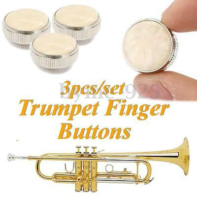3Pcs Polymeride + Copper Trumpet Finger Buttons for Repairing Parts Dia 15mm