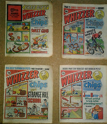 212 Vintage 1980 - 1985 Whizzer & Chips Comics & 3 Summer / Holiday Specials