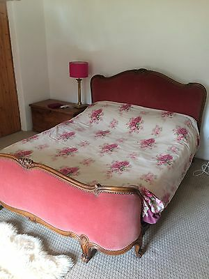 Romantic Vintage Antique Carved Corbielle French King Size Bed