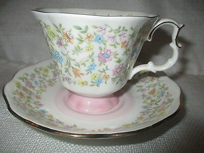 """ROYAL ALBERT Harmony Series """"Chanson"""" Cup and Saucer"""