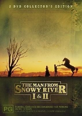 The Man From Snowy River 1 & 2, Dvd, New & Sealed, Region 4.