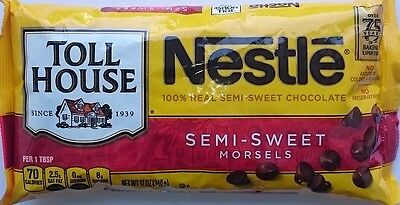 NESTLE Toll House 'Semi-Sweet' Morsels 100% Real Chocolate 340gr Original USA
