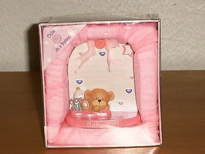 Cute  As  A  Button  Baby  Girl  Ornament  -  New  And Boxed