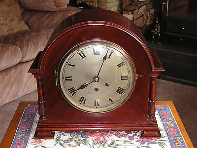 GUSTAV BECKER ANTIQUE QUARTER CHIME BRACKET CLOCK 1860 -1863.DATED BY SERIAL No.