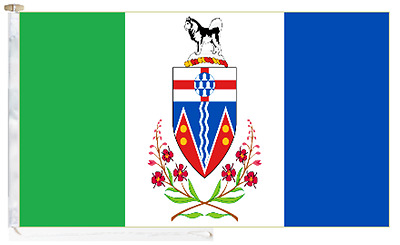 Canada Yukon Roped & Toggled 2 Yard Courtesy Boat Flag
