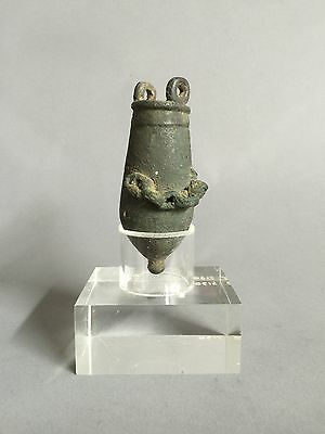 Ancient Egyptian Bronze Cosmetic Container 525-332 BC
