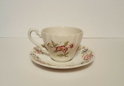 Vintage Mandarin By Franciscan Tea Cup & Saucer Made In Staffordshire England