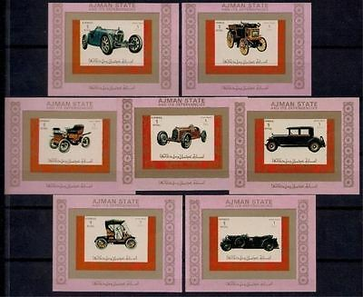 Ajman Old Cars Antique Automobiles Transport Imperf DeLuxe MNH