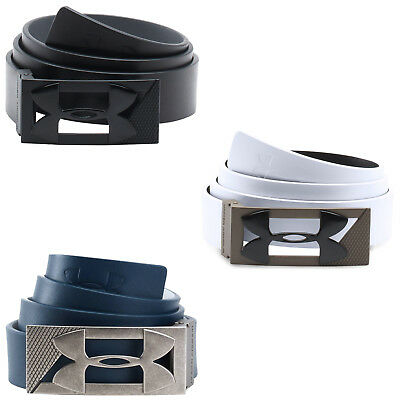 Under Armour Mens Core Pu Leather Golf Belt New Reversible Classic Golf Buckle