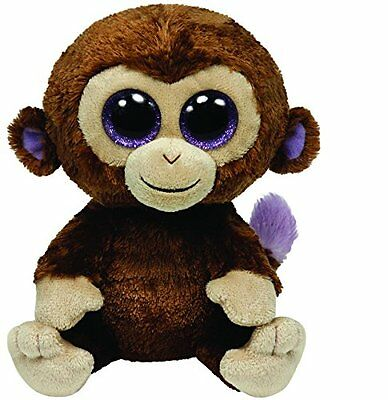 TY BEANIE BOO COCONUT THE MONKEY 15cm GLITTER EYES