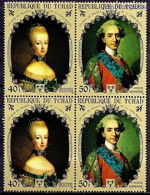 Chad Royalty Le Rois Kings of France Louis XVI/Marie Antoinette People 4v MNH