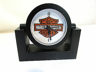Harley Davidson Motorcycles Adjustable Swivel Desk Clock NEW Battery Included