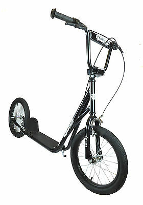 """2017 Limited Edition 1080 Adult Teen Black 16"""" Wheel Push BMX Style Scooter"""