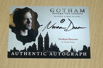 2017 Cryptozoic Gotham season 2 autograph card Nathan Darrow VICTOR FRIES circle