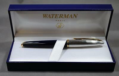 Waterman Carene Deluxe Blue & Silver  Rollerball Pen   New In Box