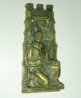 Rare Antique Brass Glastonbury Abbot Whiting Door Knocker Roman Catholic Martyr