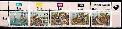RSA 1992 Cape of Good Hope/Ships Boats Sailing Post Mail Stamp Day strip MNH/1