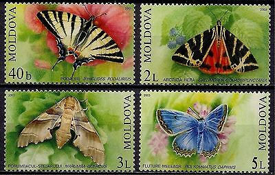 Moldova 2003 Butterflies Insects Nature 4v set MNH