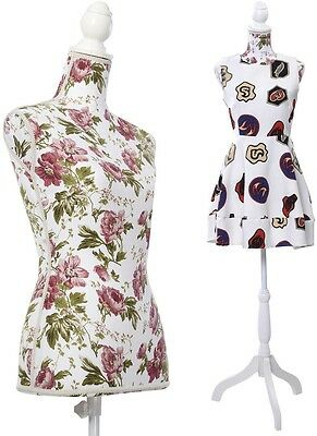 Mannequin Female Form Display Torso Full Dress Body Floral Tripod Stand For Top