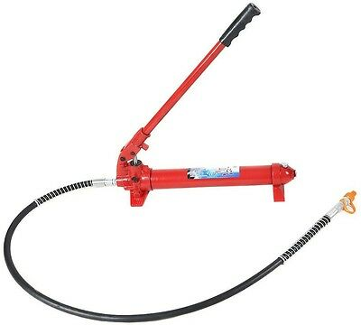 Hydraulic Jack Hand Pump Manual Engine Lift Hoist Portable 22000lbs 10 Ton Red