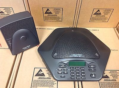Clearone Max Ip Conference Phone 860-158-330 W/ Base 860-158-340