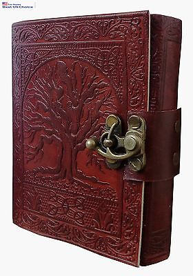 Tree of Life Journal Leather With C-Lock Notebook Gift RETRO DIARY Planner NEW