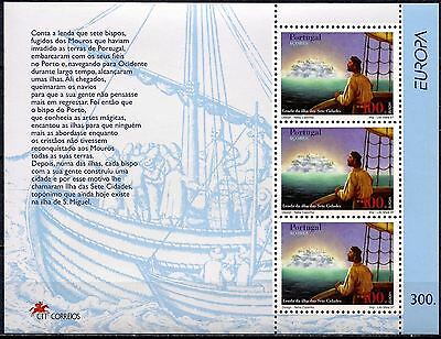Azores 1997 Europa Stories Legends/Ile. Seven Cities/Discovery Sailing Boat MNH