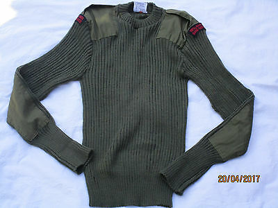 Englischer Pullover,Jersey Man´s Heavy, oliv, Gr.100cm,(S/M) Royal Marines Band