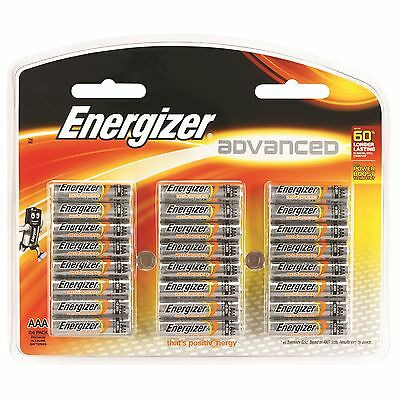 Energizer Advanced AAA Alkaline Batteries 24 Pack Free Postage Australia Wide
